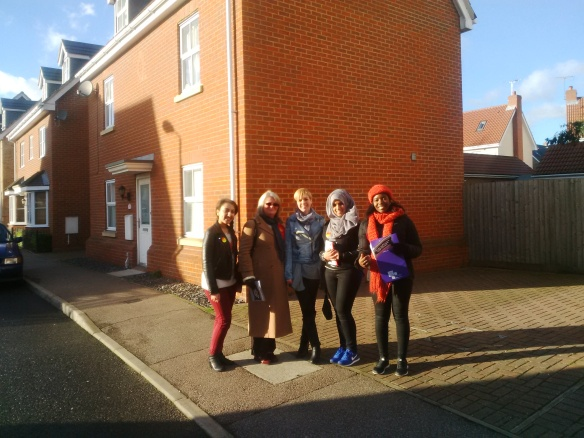 Rania and West Ham colleagues in Thurrock