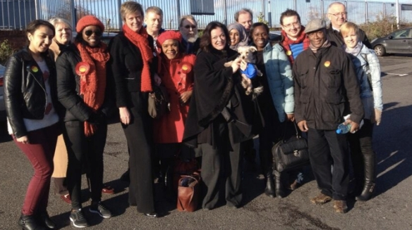 West Ham CLP with colleague in Thurrock