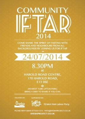 Community iftar 2014