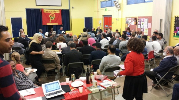 Photo of people at nomination meeting