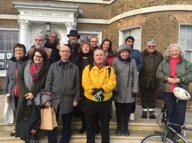 Members outside William Morris gallery