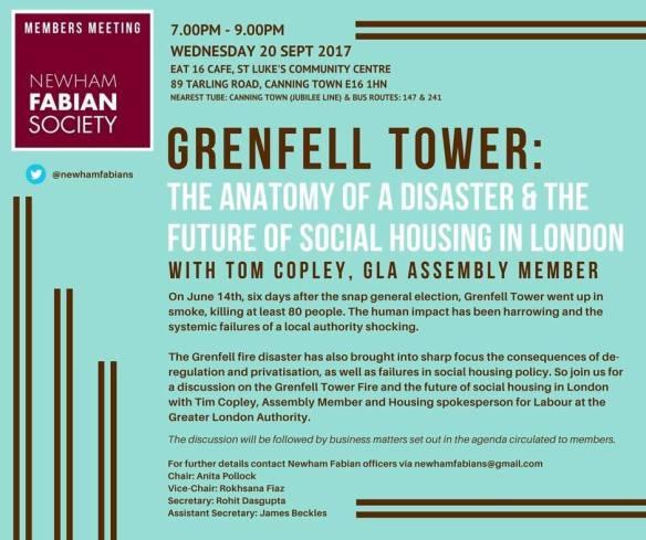 Newham Fabians Grenfell Tower - 209.17